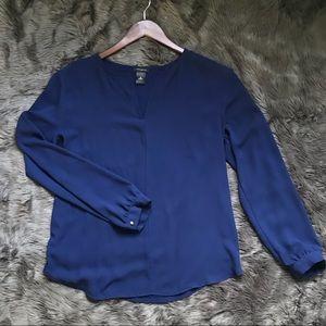 Ann Taylor Blue Long Sleeve Top